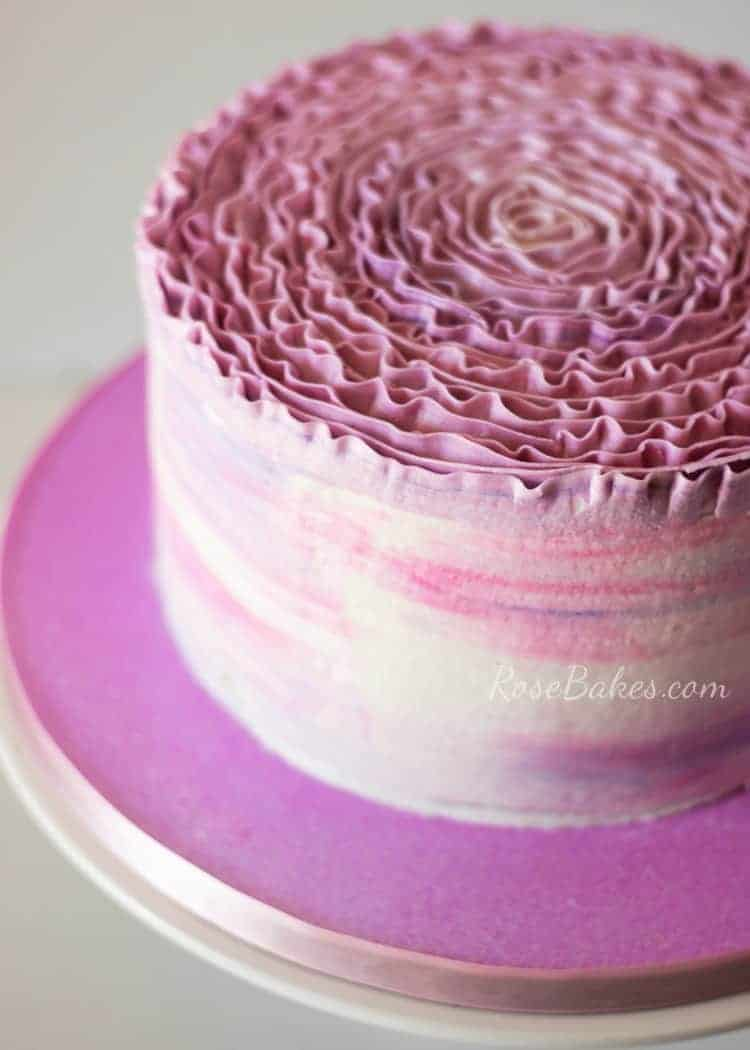 Ombre Ruffles Rose Cake