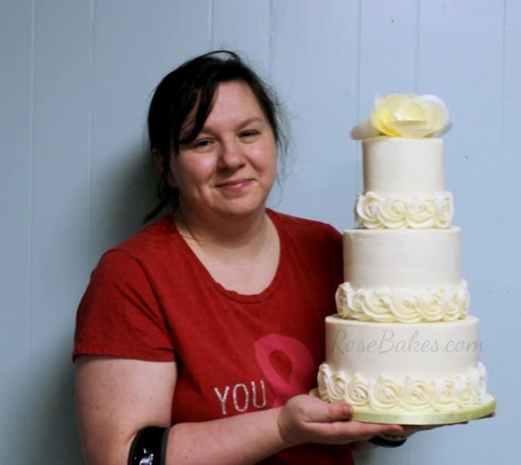 Rose with Wedding Cake