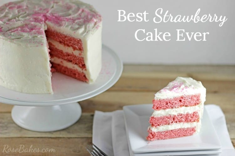 Strawberry Cake Recipe RoseBakes