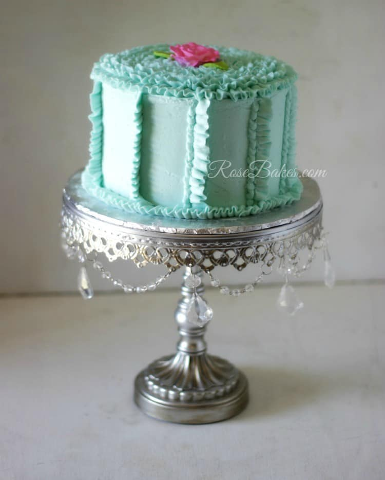 Teal Buttercream Ruffles Cake