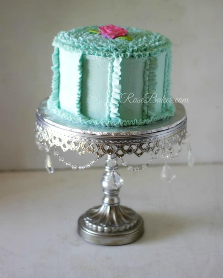 Teal Buttercream Ruffles Cake
