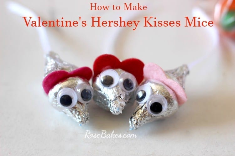 Valentine's Hershey Kisses Mice