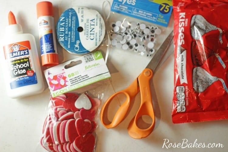 Valentine's Hershey Kisses Mice Supplies