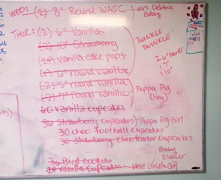 baking list