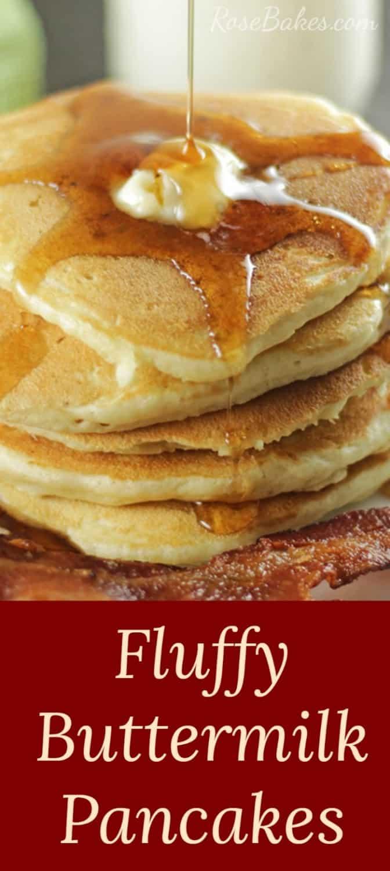Fluffy Buttermilk Pancakes Recipe RoseBakescom
