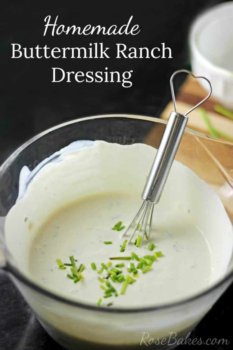 Homemade Buttermilk Ranch Dressing Recipe - Rose Bakes
