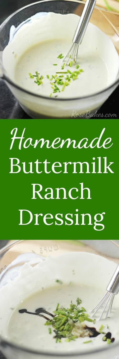 Homemade Buttermilk Ranch Dressing RoseBakes