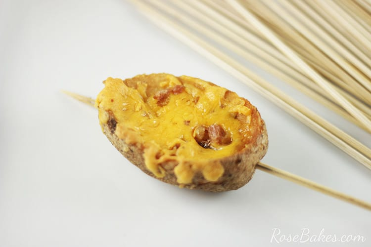 Potato Skin on a skewer