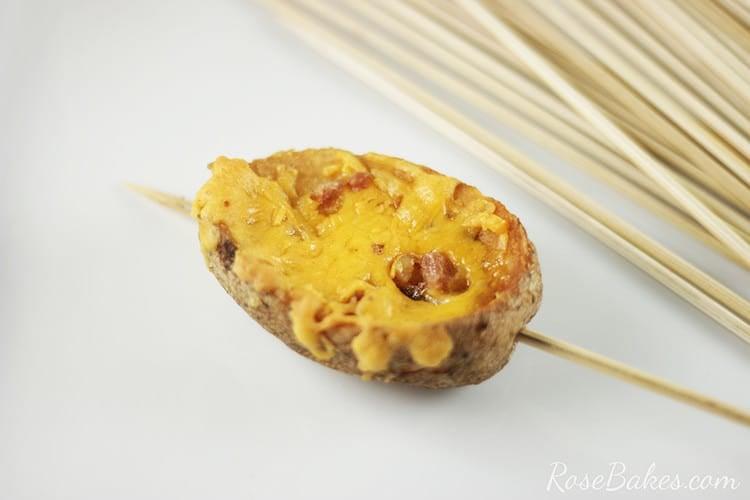 Potato Skin on a skewer