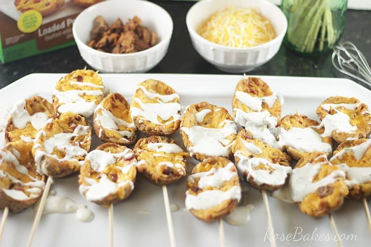 Potato Skins on the platter