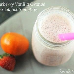 Strawberry Vanilla Orange Breakfast Smoothie