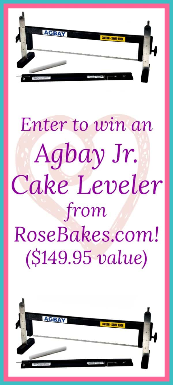 Win an Agbay Jr. Cake Leveler from RoseBakes.com