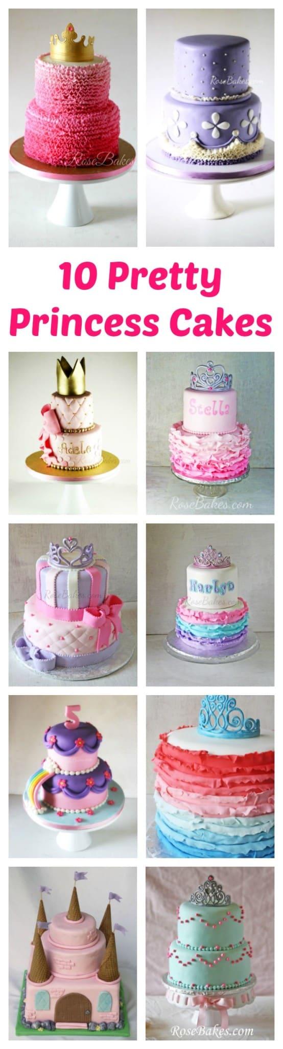 10 Pretty Princess Cakes by RoseBakes