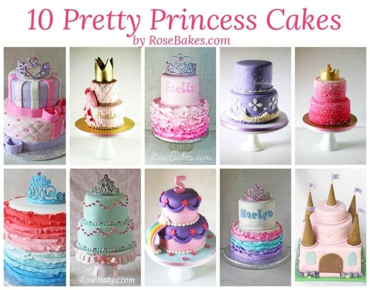 10 Pretty Princess Cakes