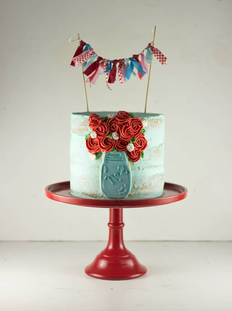 Ball Jar Cake with Bunting