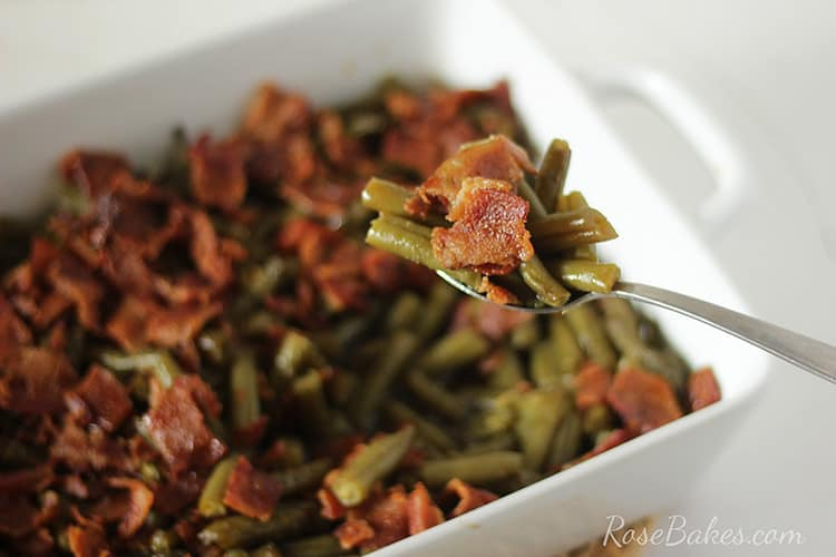 Bite of Old Fashioned Smothered Green Beans