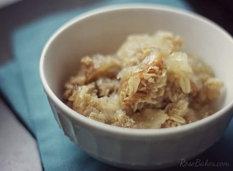 Bowl of Apple Crisp for a Crowd