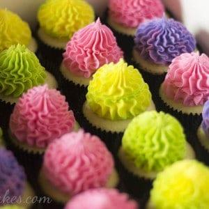 Festive Bright Cupcakes