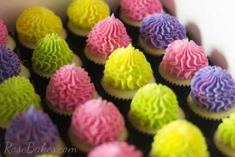 Bright Festive Cupcakes