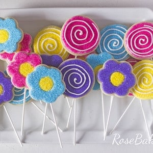 Bright Flowers & Lollipops Cookies