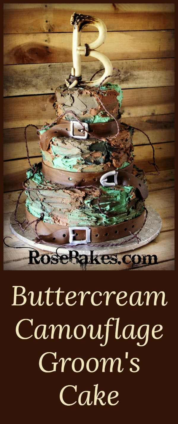 Buttercream Camouflage Groom's Cake by RoseBakes