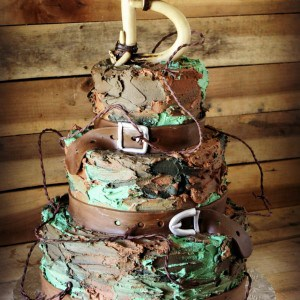 Buttercream Camouflage Groom's Cake by Rose Bakes