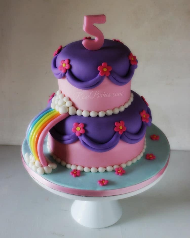 Disney Princesses Rainbow Cake
