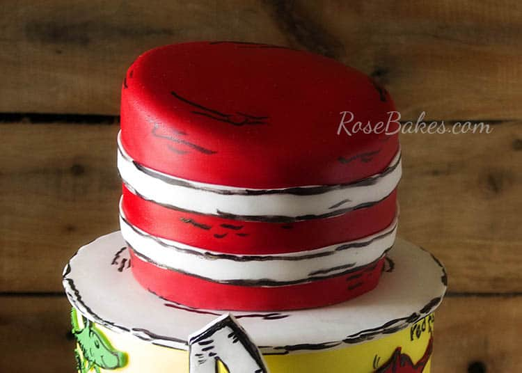 Dr Seuss Hat Cake Top Tier