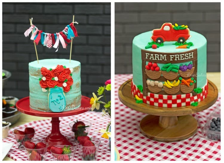 Farmer's Market Cakes for Perry Kathryn & Griffin