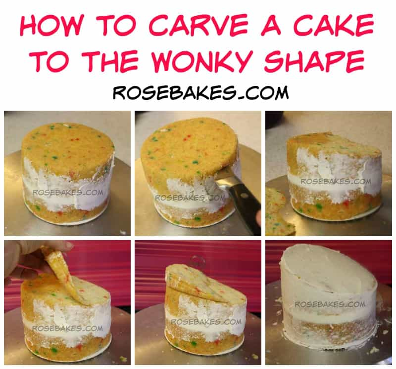 How to Carve a Cake to the Wonky Shape