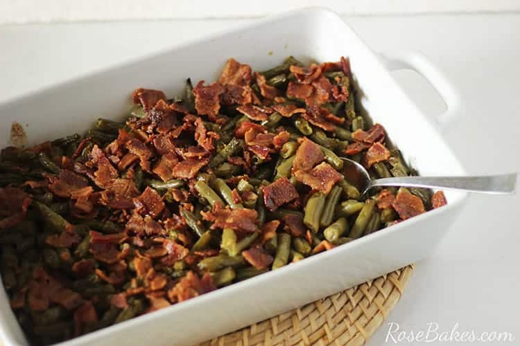 Old Fashioned Green Beans With Bacon Amp Brown Sugar Rose