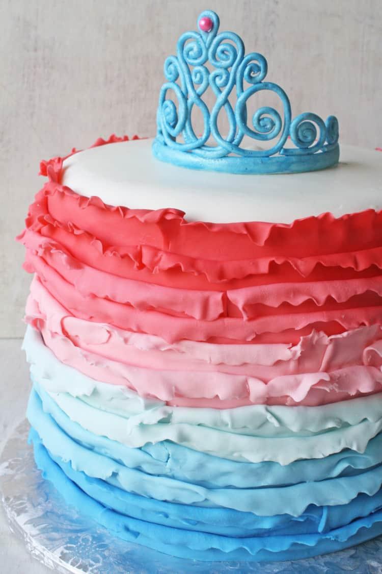 Ombre_Ruffles_Princess_Tiara_Cake