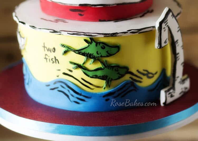 One Fish Two Fish Dr Seuss Cake