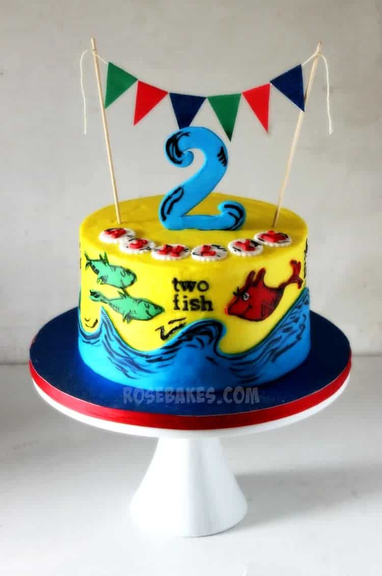 One Fish Two Fish Dr. Seuss Cake