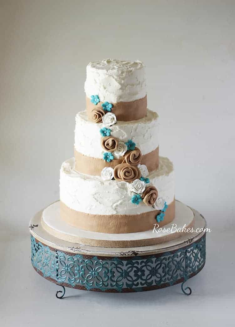 Its Not My First Time To Do A Burlap Themed Cake It Was Loosely Based On This Lace Wedding I Did Quite Awhile Back