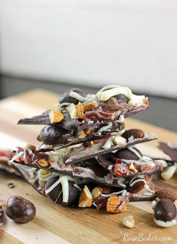 Salted Dark Chocolate Bark Recipe