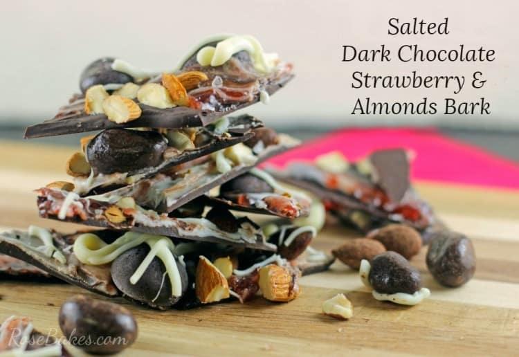 Salted Dark Chocolate Strawberry & Nuts Bark Recipe