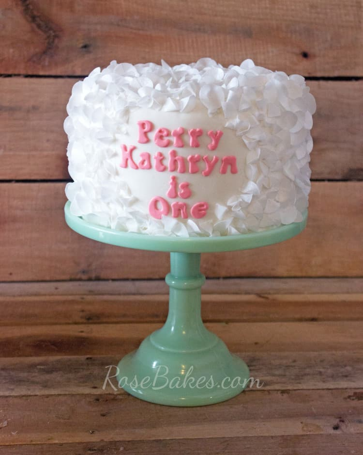 Wafer Paper Ruffles Cake