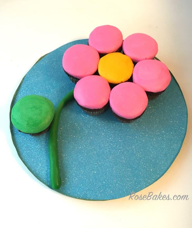 Cupcake Flower with Stem