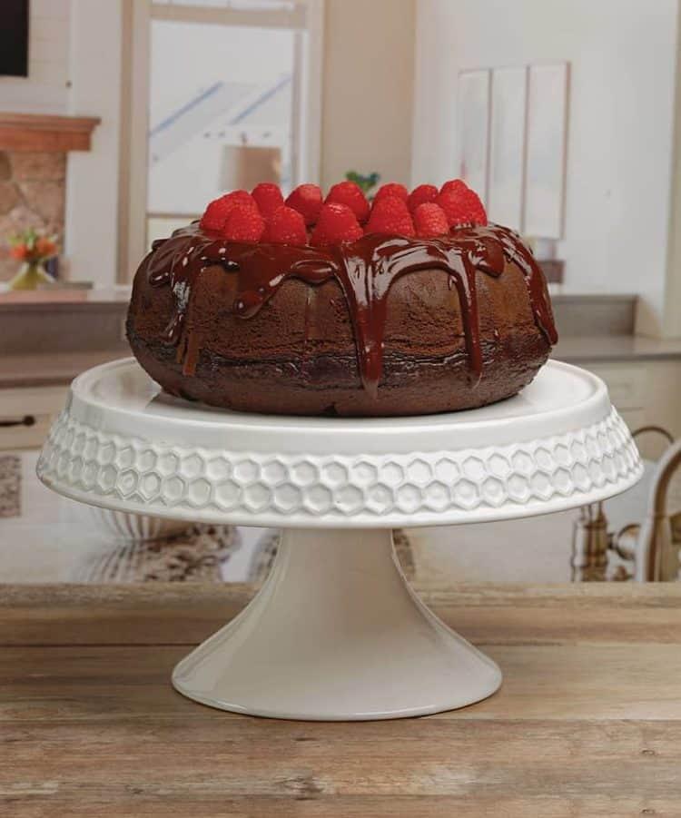 Embossed Honey Bee Cake Stand