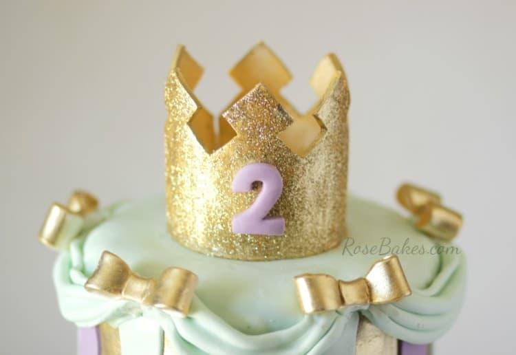Gold Tiara and Bows