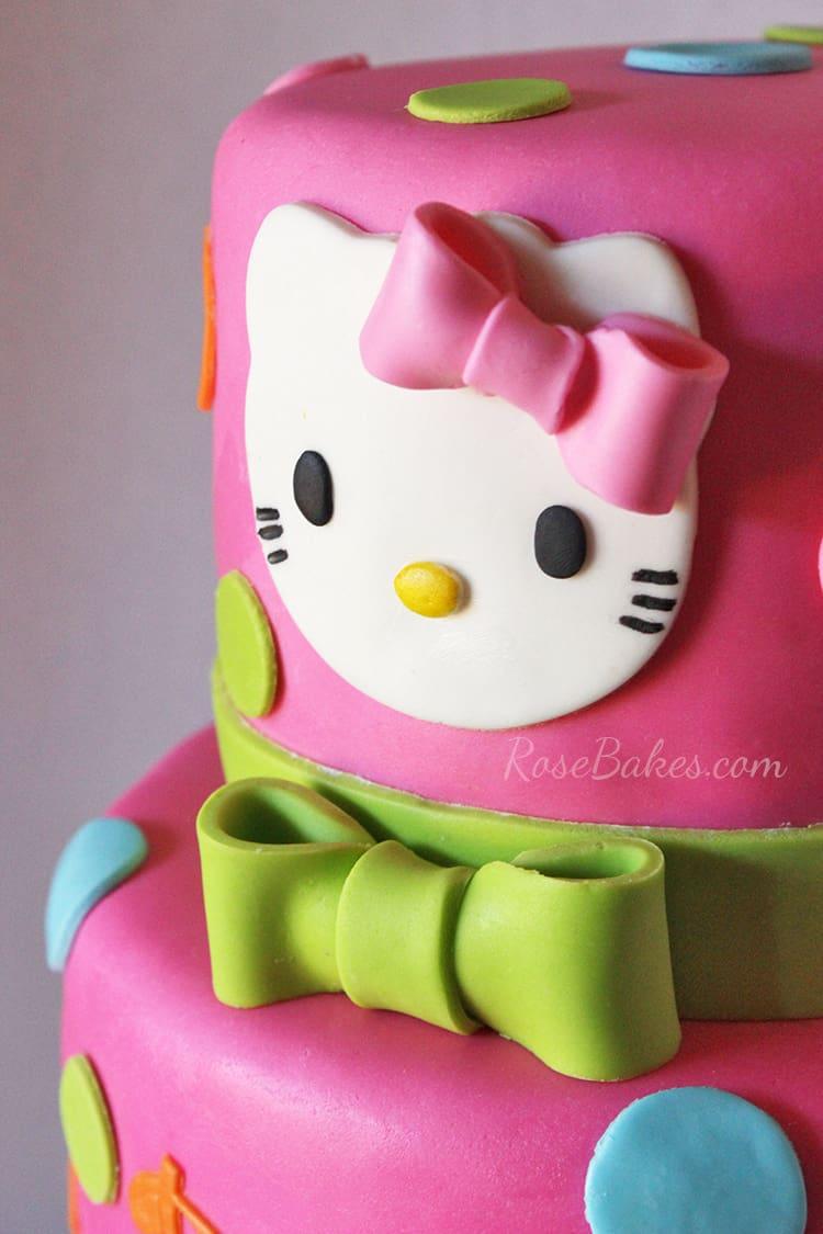 Hot Pink Hello Kitty Cake Rose Bakes