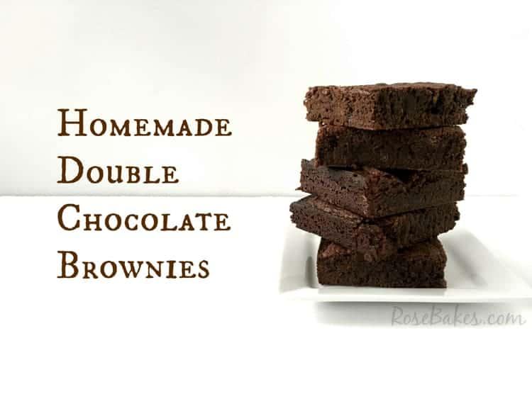 Homemade Double Chocolate Brownies Recipe