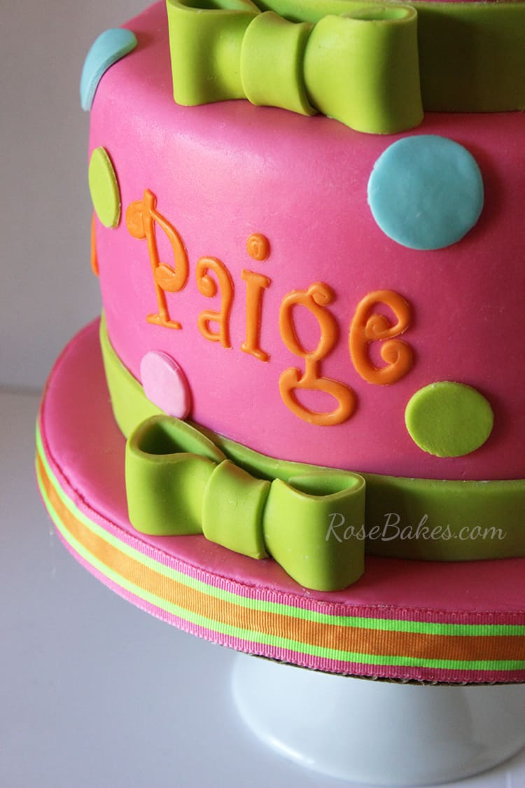 Hot Pink Hello Kitty Cake Letters