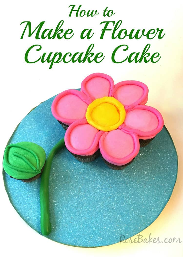 How To Make A Flower Cupcake Cake
