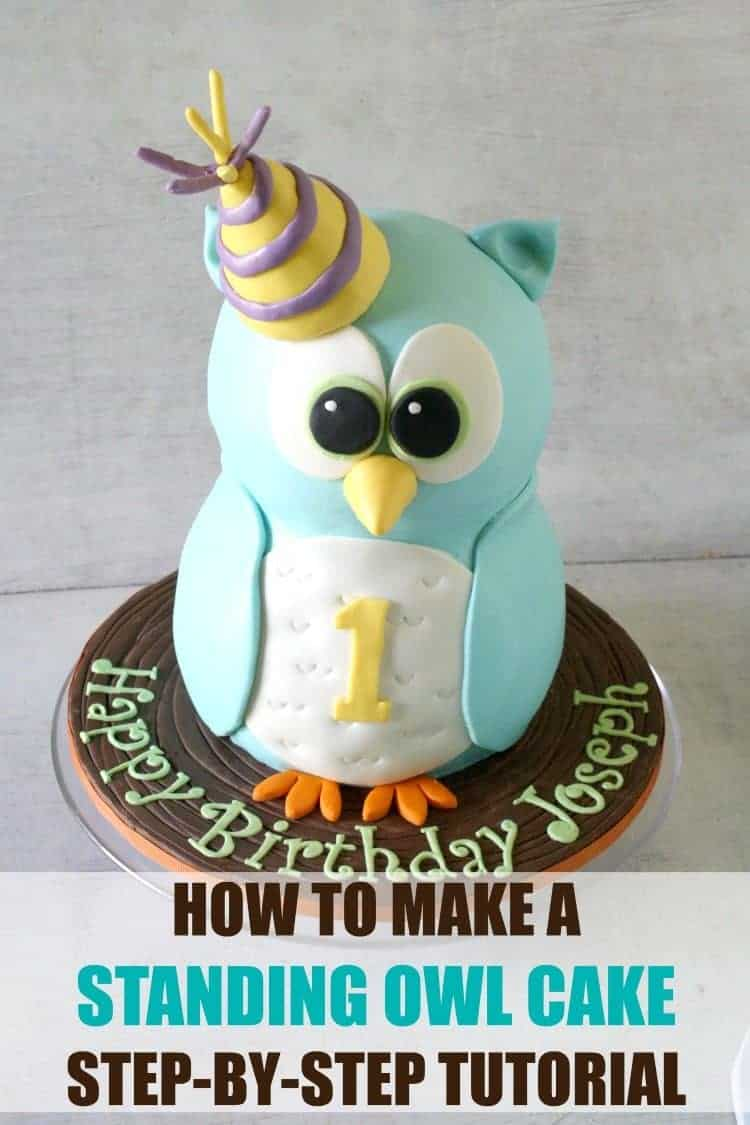 How to Make a Standing Owl Cake Tutorial