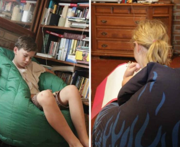 Kids Homeschooling Living Room Bean Bags