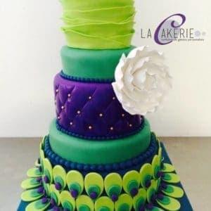 Modern Peacock Cake