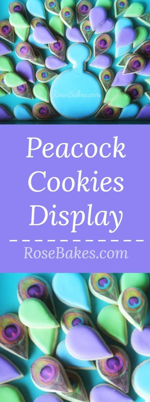 Peacock Cookies Display
