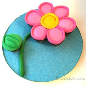 Pink Flower Cupcake Cake Tutorial